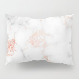Rose Gold Marble Pillow Sham