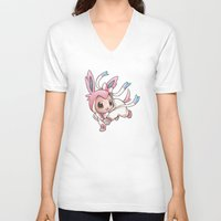 projectrocket V-neck T-shirts featuring Ribbons and Bows, Oh my! by Randy C