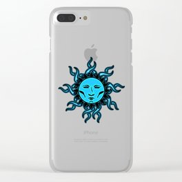 Sublime Blue Moon Psychedelic Character Design Logo Clear iPhone Case