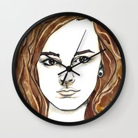 hermione Wall Clocks featuring Hermione Granger by Boni Dutch