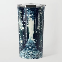 Magical Forest Teal Gray Elegance Travel Mug