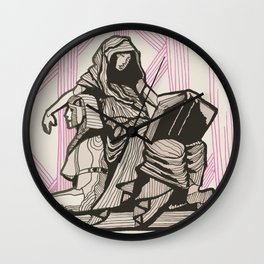 Cleo - Muse of History Wall Clock
