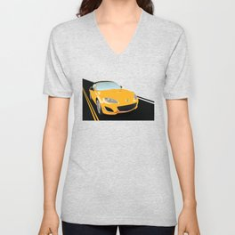 Japanese Roadster 2009, Competition Yellow Unisex V-Neck