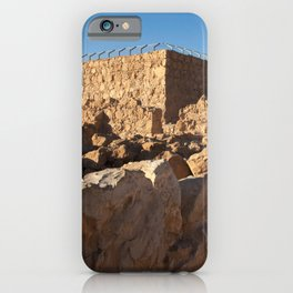 Masada Israel Ruins iPhone Case