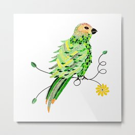 Bird of Costa Rica, parakeet Metal Print