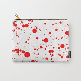 310001 Blood Red and White Painting Carry-All Pouch