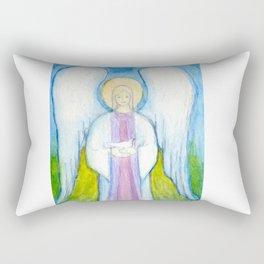 Angel with Dove Rectangular Pillow