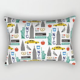 NYC travel pattern fun kids decor boys and girls nursery new york city theme Rectangular Pillow