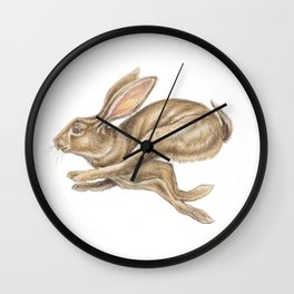 Hare Watercolour - Nursery Art by Magda Opoka Wall Clock