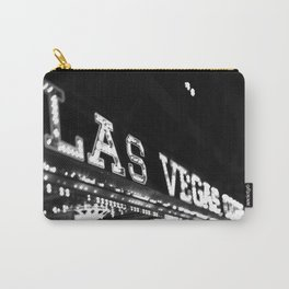 Vintage Las Vegas Sign - Black and White Photography Carry-All Pouch