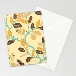 Crisp Autumn Branches Stationery Cards