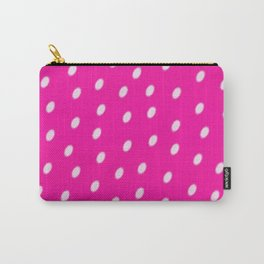 White Dots On Pink Background Carry-All Pouch