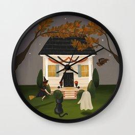 Happy Hallowmas Wall Clock