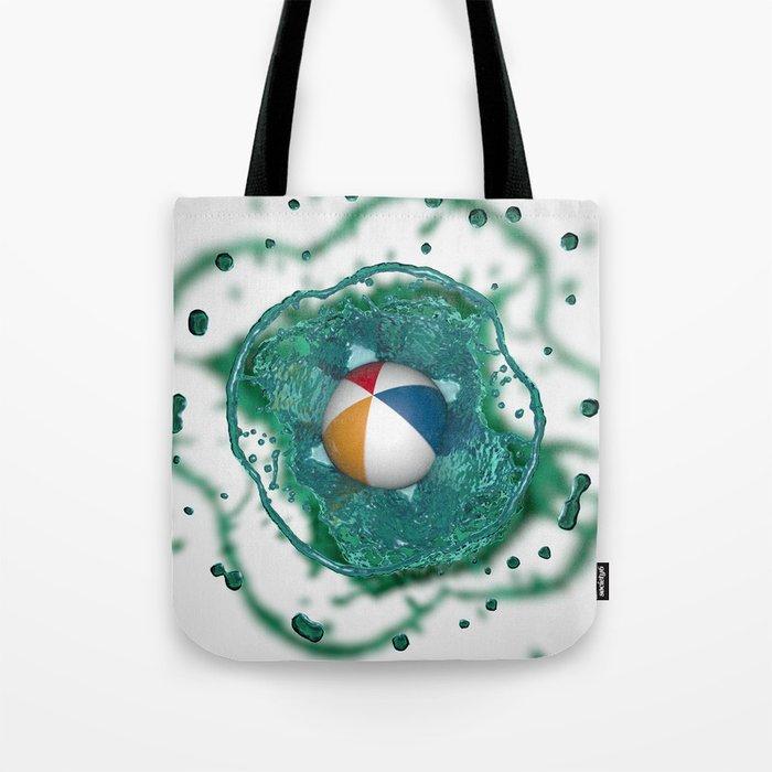 Beach ball Splash Tote Bag