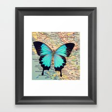 Flying home! Framed Art Print