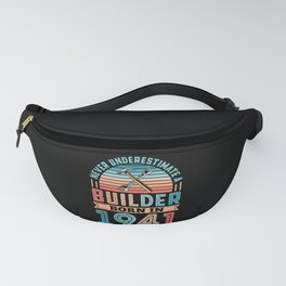 Builder born in 1941 80th Birthday Gift Building Fanny Pack