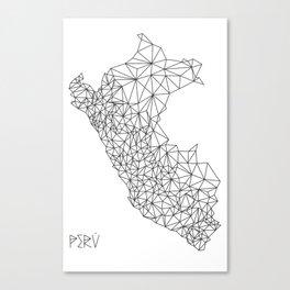 Mapa Peru Canvas Print