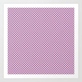 Bodacious and White Polka Dots Art Print