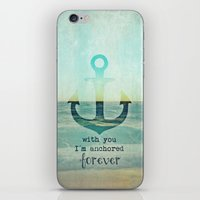 anchor iPhone & iPod Skins featuring ANCHOR by Monika Strigel