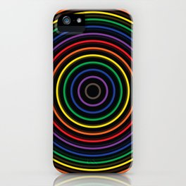 Colorful circle iPhone Case