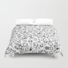 Zelda A Collection of Items Pattern Duvet Cover