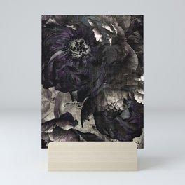 goth peony Mini Art Print