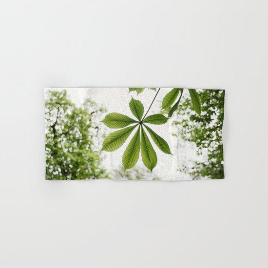 Green Spring Leaf Hand & Bath Towel