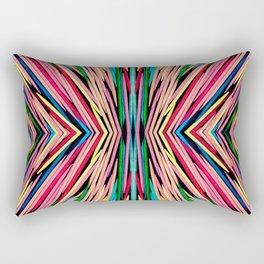 Toothpick Fusion Abstract Pattern Rectangular Pillow