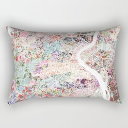 Bordeaux map, france Rectangular Pillow