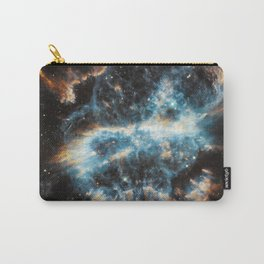 Bright galaxy nebula space and stars swirl hipster star photograph geek cool geeky gift Carry-All Pouch