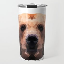 Low Poly Bear Head Travel Mug