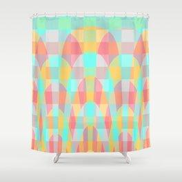 Multicolor wave Shower Curtain