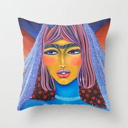 Blue Bride Throw Pillow