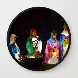The Nativity Wall Clock