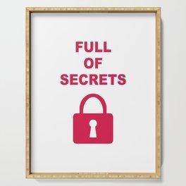 Full of Secrets Lock Serving Tray