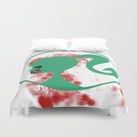 zombie Duvet Covers featuring Zombie by Los Espada Art