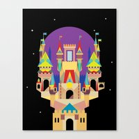 castle Canvas Prints featuring castle  by crayon dreamer