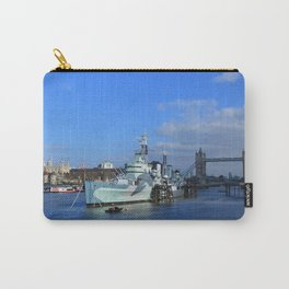 HMS Belfast, Tower Bridge and the Tower of London Carry-All Pouch