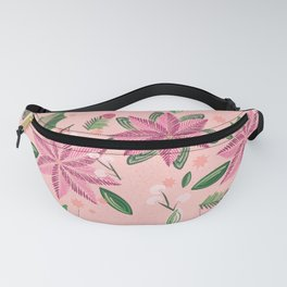 Christmas collection-Poinsettia & Snowberry  rose & coral wrapping paper Fanny Pack