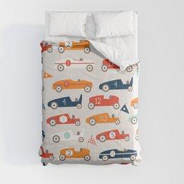 Soapbox Derby Blue Car Comforters