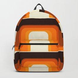 Mid-Century Modern Meets 1970s Orange Backpack