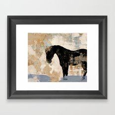 Modern Day Horse Framed Art Print