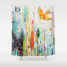 where ever you are Shower Curtain