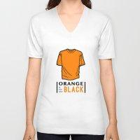oitnb V-neck T-shirts featuring OITNB by Sandi Panda
