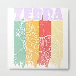 Zebra gift tiger horse horses africa steppe Metal Print