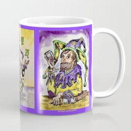 Mirth Juggling Jester #1 between Toasting Jesters #1 & #3 Coffee Mug
