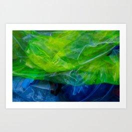 plastic yellow and blue Art Print