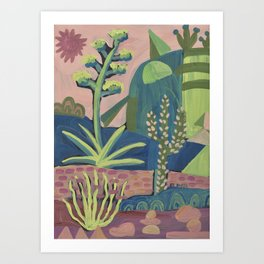 Colorful Desert Art Print