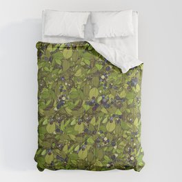 Blueberry Bushes Comforters