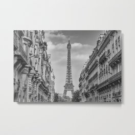 Parisian Flair | monochrome Metal Print